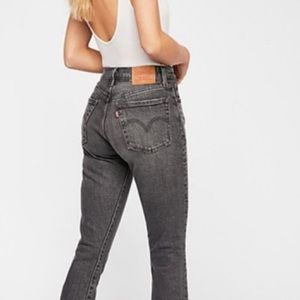 Levi's Wedgie Fit Black Distressed High Rise Jeans